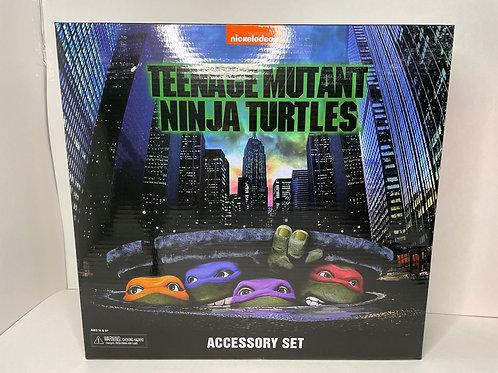 "NECA TMNT 1990 Movie Accessory Pack 7"" Scale"