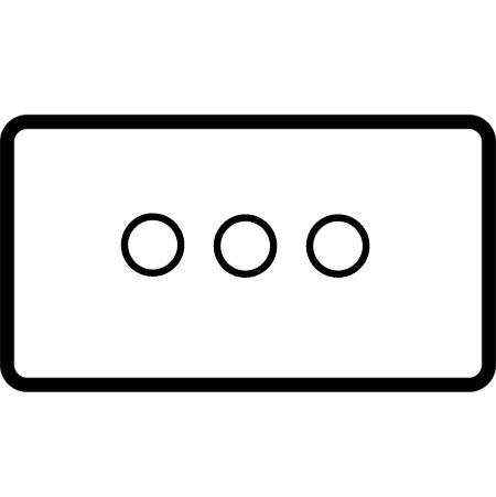 3 gang 200W 2 way trailing edge dimmer (V-pro) - 85353