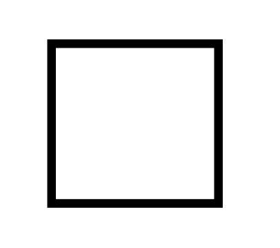 Single blank plate - 89201
