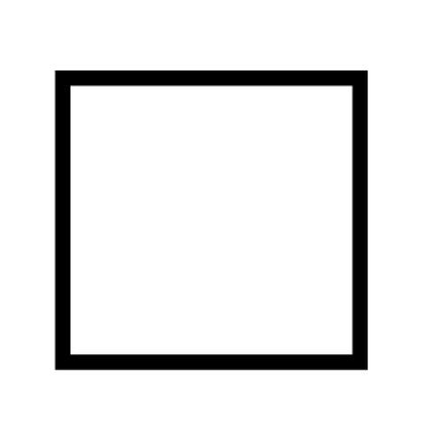 Single blank plate - 89401