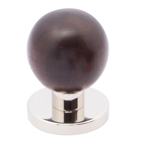 Cupboard knob - ball – with rose
