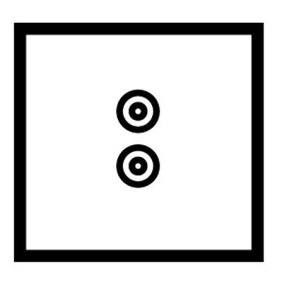 1 Gang speaker socket - 89231