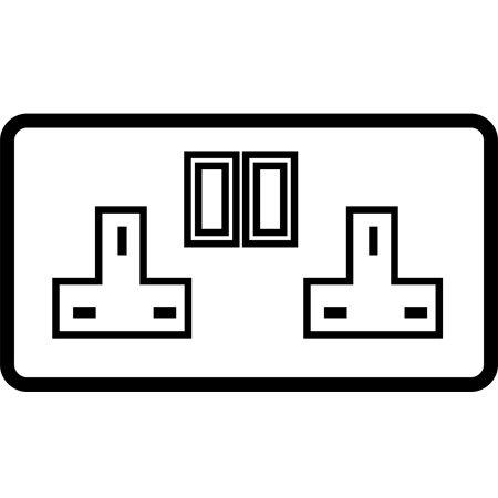 2 Gang 13 AMP Switched socket outlet - 84302