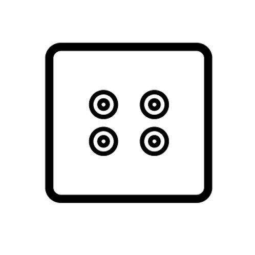 2 Gang speaker socket - 89332