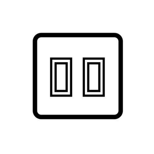2 Gang 20 AMP 2 way rocker grid switches - 81302