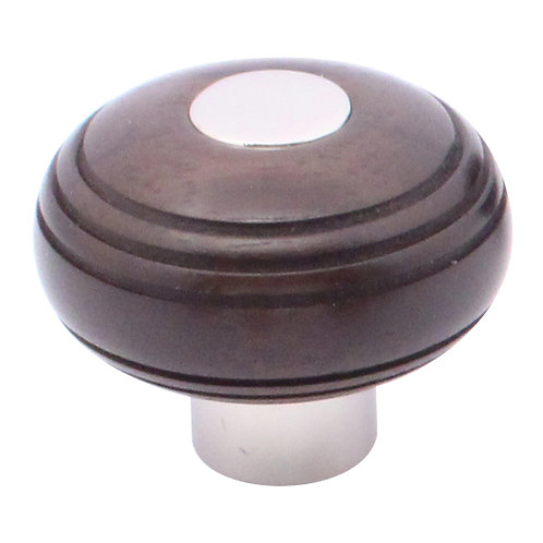 Cupboard knob 38mm grooved ball without rose