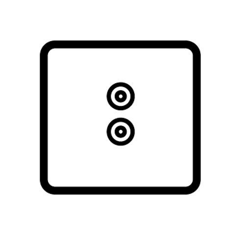 1 Gang speaker socket - 89331