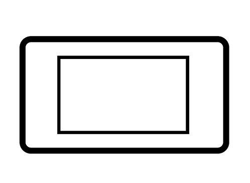 3 Module euro plate - 89313