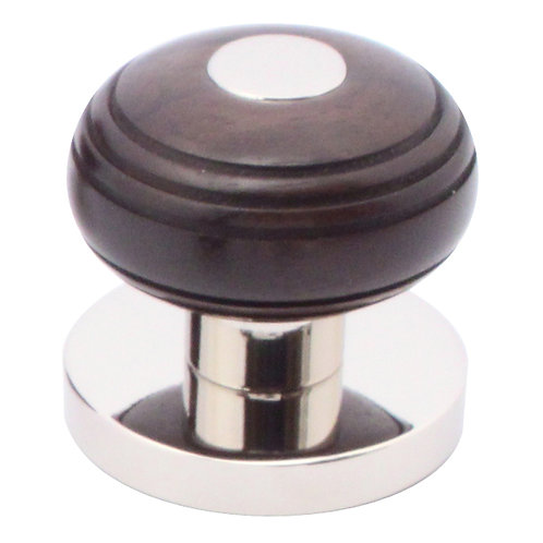 Cupboard knob 38mm grooved ball with rose