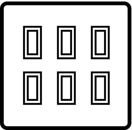 6 Gang 20 AMP 2 way rocker grid switches - 81306