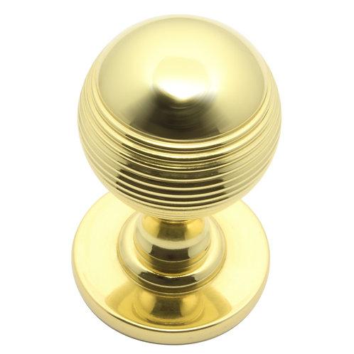 Cupboard knob grooved