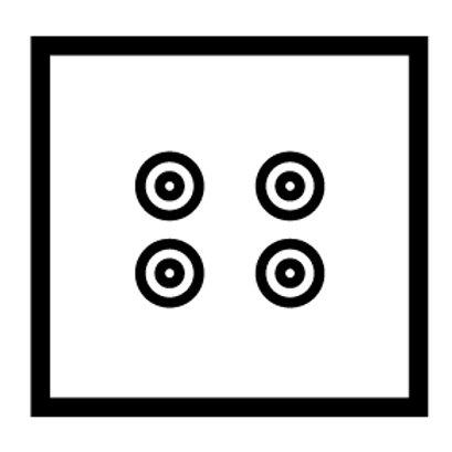 2 Gang speaker socket - 89432