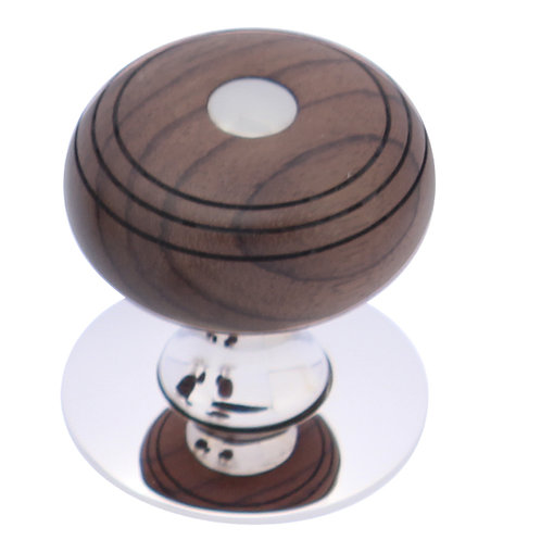 Mortice Knob - round with disc grooved