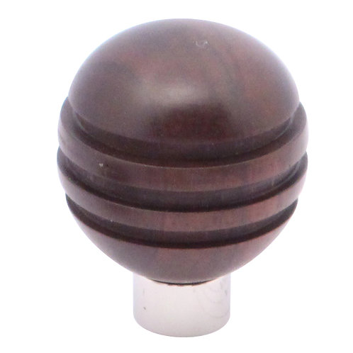 Cupboard knob – grooved ball – without rose