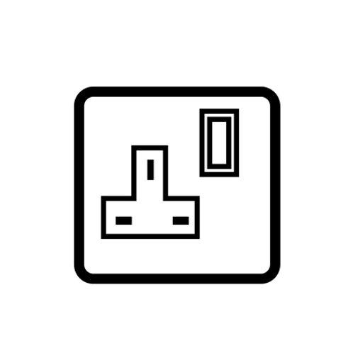 1 Gang 13 AMP Switched socket outlet - 84301