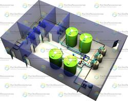 Блочно-модульная станция очистки вод