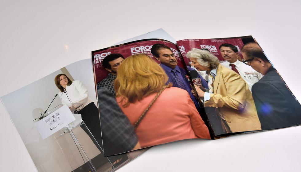 Exhibición del proyecto en booklets