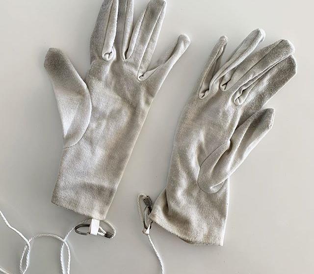 Estos guantes los puse para uso del públ