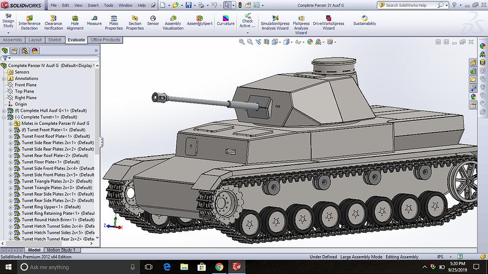 Panzer IV FULL SIZE tank blueprints