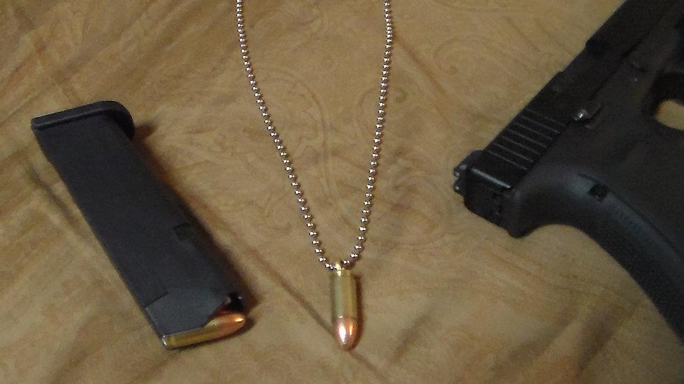 Premium grade 9mm bullet necklaces