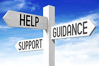 Help, support, guidance concept - wooden