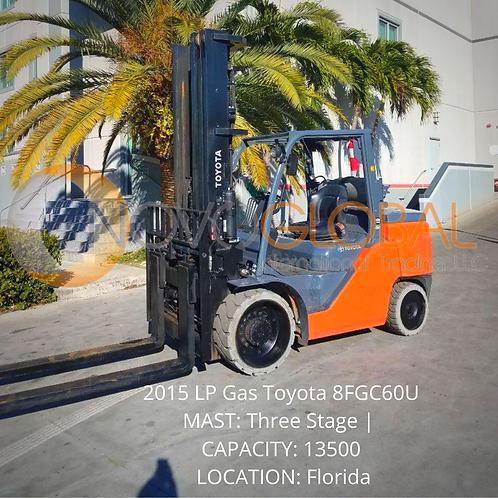Montacargas / Forklift, 2015 LP Gas Toyota 8FGC60U
