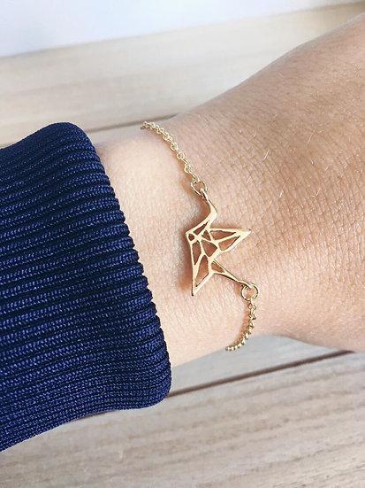 Bracelet origami doré - argenté
