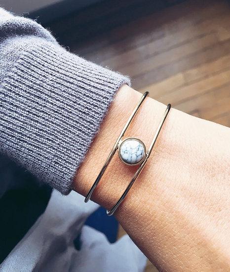 Bracelet rubis - blanc - 7 BIS