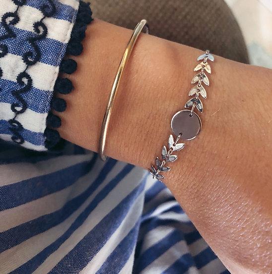 Bracelet épi rond - argent 925