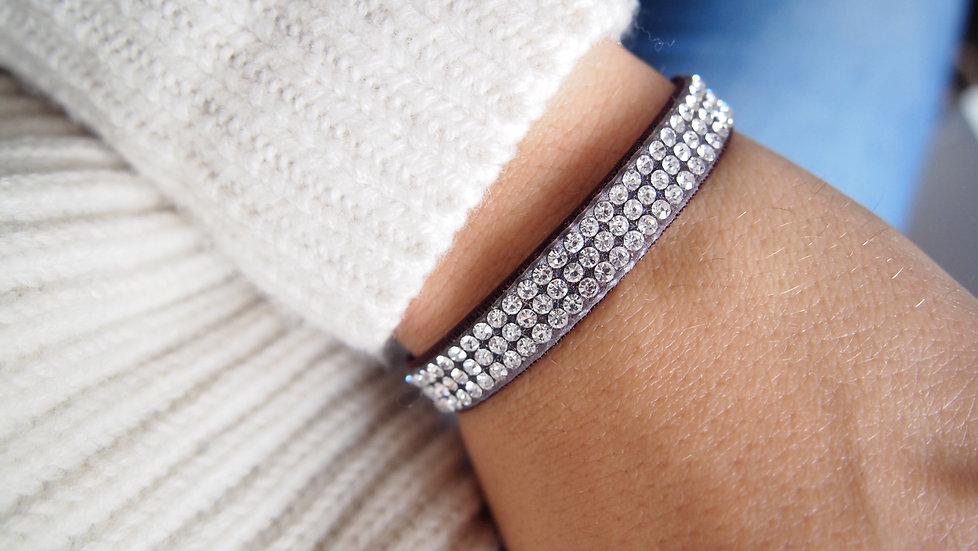 Bracelet strass - noir