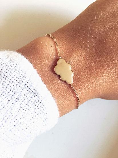 Bracelet nuage - Plaqué or 750/000