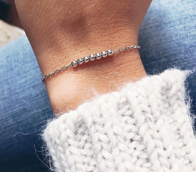 Bracelet de perles en Argent 925