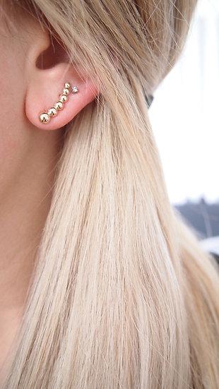 Bijou d'oreille plaqué or