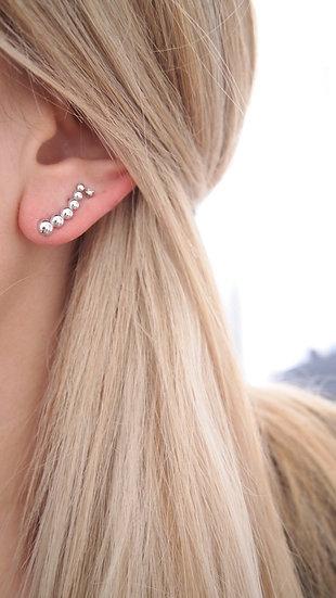 Bijou d'oreille ronds - argent 925