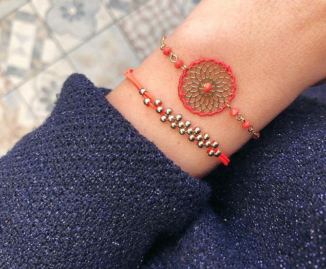 Bracelet fantaisie Corail