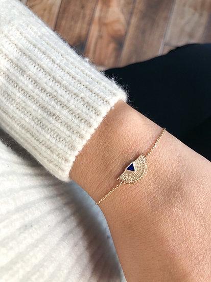 Bracelet émail - plaqué or