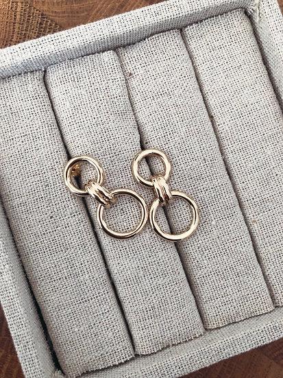 Boucles pendantes plaqué or