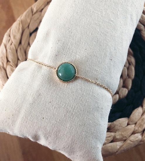 Bracelet rond Green - Plaqué or