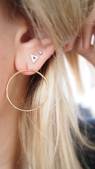 Boucles d'oreilles Bali - Plaqué or