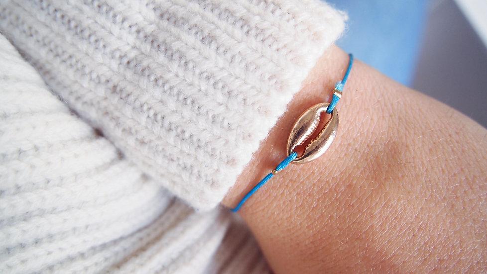 Bracelet coquillage - turquoise