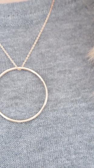 Pendentif cercle plaqué or