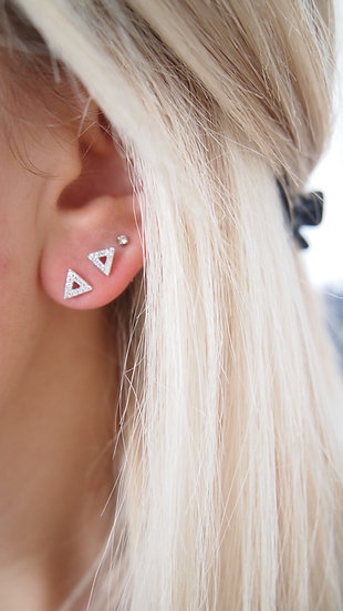 B.O triangles oxydes argent 925