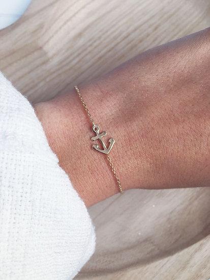 Bracelet encre de marine - plaqué or