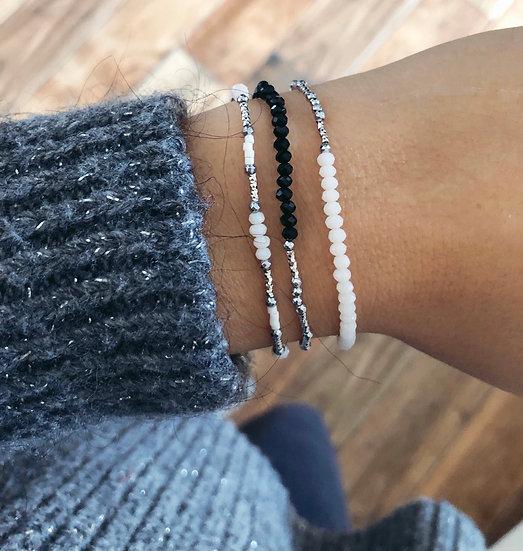 Bracelet cristal et argent 925