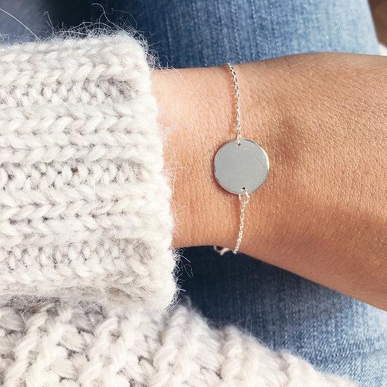 Bracelet médaille argent 925