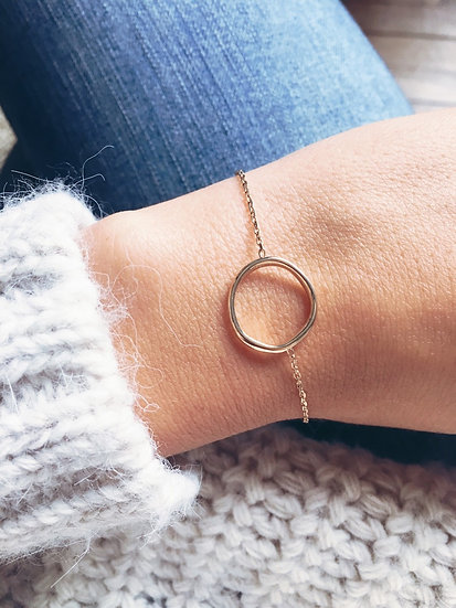 Bracelet cercle - Plaqué or