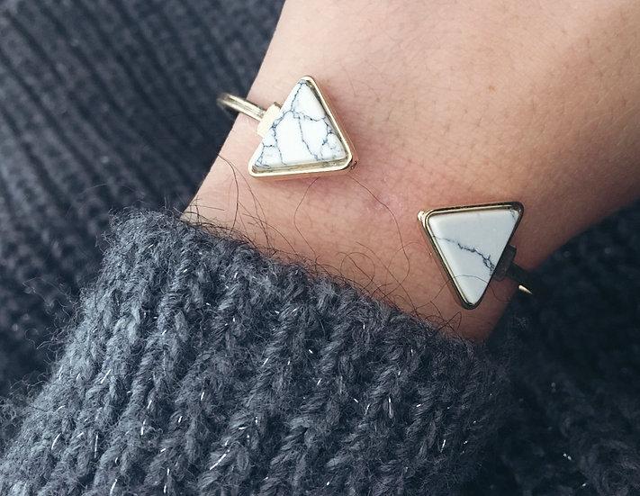 Jonc triangles effet marbre