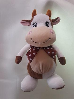 Корова с лентой