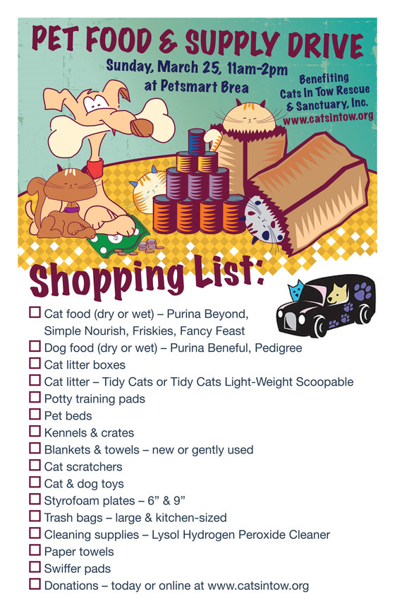 PET FOOD SHOPPING LIST