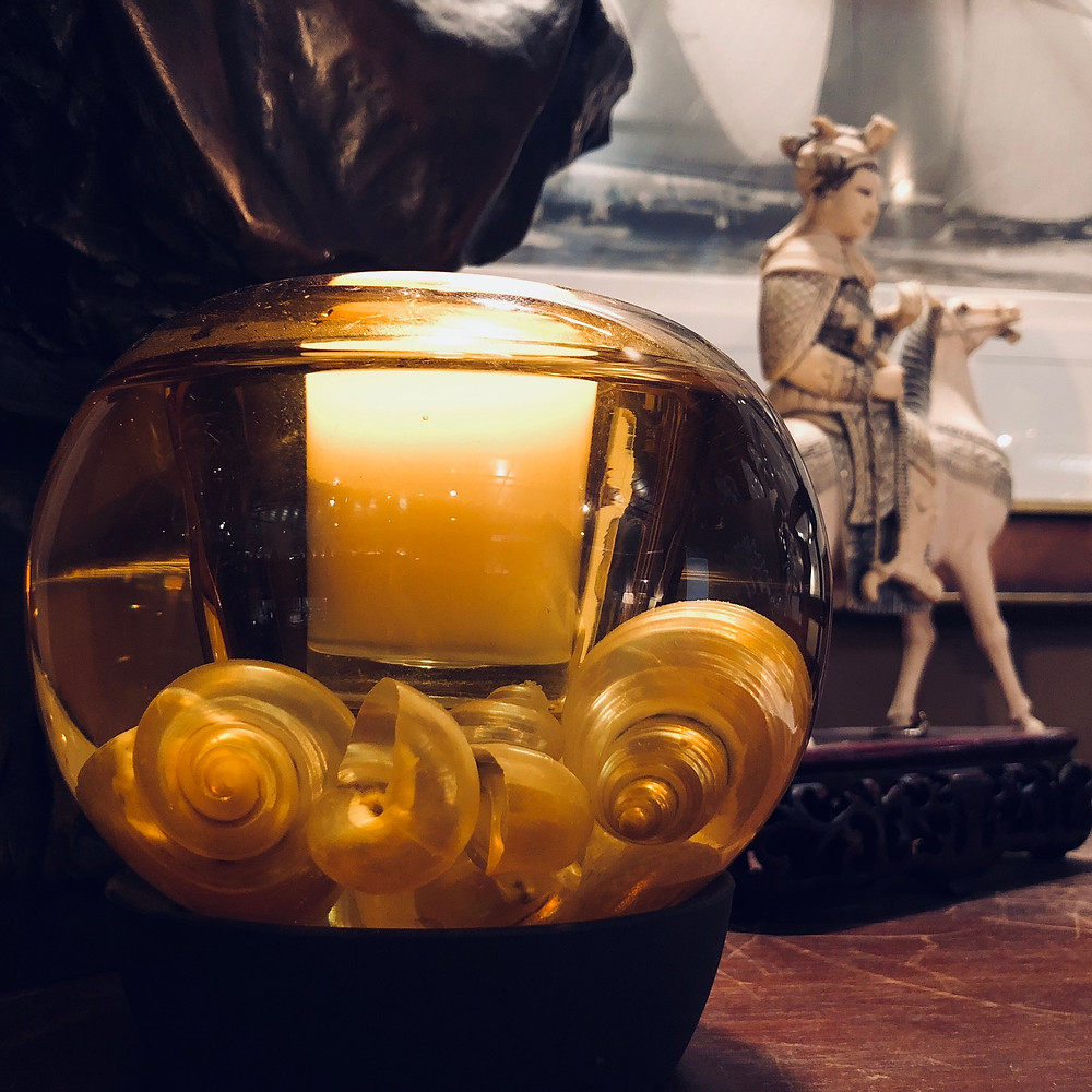 Double-walled Venice Votive with seashells